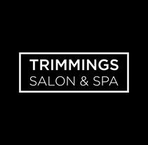 TRIMMINGS SALON & SPA. Um projeto de Direção de arte, Br, ing e Identidade e Design gráfico de Sandra Calpe         - 18.09.2016
