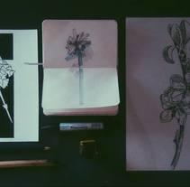 Estudio flores.. A Illustration project by Sandra González - 01-10-2016