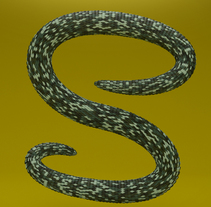"""S""nake. A Motion Graphics, 3D, Animation, Graphic Design, Post-Production, and Calligraph project by Tomàs Sala Robinat         - 27.09.2016"