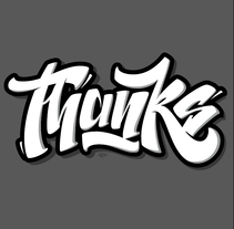 """Thanks"" lettering. A Graphic Design, T, pograph, and Calligraph project by Alberto Leonardo         - 24.10.2016"