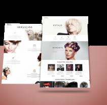 Peluquería I - Diseño disponible. Un proyecto de Diseño Web de Melanie Nogué Fructuoso - 26-10-2016