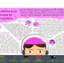 Los efectos de la musica en el cerebro. Un proyecto de Diseño e Ilustración de Gabriela Molina         - 30.10.2016