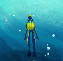 Cousteau. Curiosities by J. Escudero. A Illustration, Film, Video, TV, Animation, Art Direction, Character Design, Editorial Design, Education, Graphic Design, Marketing, Multimedia, and Video project by Jesús Escudero - 02-11-2016