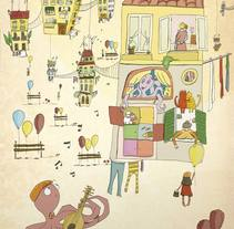 Ilustración digital: Octopus in love. Un proyecto de Ilustración de Bonaria Staffetta         - 02.10.2016