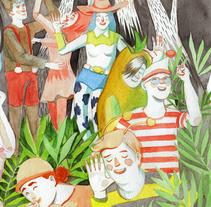 Premi TorrentJove 2014 'Fiesta de disfraces'. Un proyecto de Ilustración y Comic de AndreA Lucio - 30-09-2014