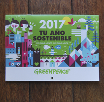 GREENPEACE/CALENDARIO 2017. Un proyecto de Ilustración, Dirección de arte y Diseño editorial de Del Hambre  - 14-11-2016