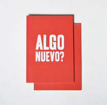 ALGO NUEVO?. A Editorial Design project by Paloma Baldrich         - 14.11.2016