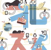 EL PAÍS. Banca digital. Un proyecto de Ilustración, Diseño editorial y Diseño gráfico de Del Hambre  - 23-11-2016