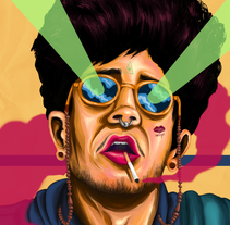 BEJO!!! Portrait/retrato. . Un proyecto de Ilustración, Diseño gráfico y Pintura de Chete Sanchez - 23-11-2016