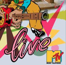 Music Live MTV. Un proyecto de Diseño, Ilustración, Dirección de arte y Diseño gráfico de zstudio - 23-11-2016