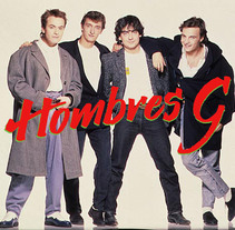 Hombres G. Mi Proyecto del curso: Caligrafía y Rock'n'Roll. A Graphic Design, and Calligraph project by Gabriel Manuel Gallego Espinosa         - 24.11.2016