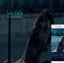 actualizacion de la web http://luisvalleartist.com/. A Web Design, and Web Development project by Luis Burbano Ulloa         - 27.11.2016