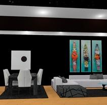 Ático: salón, cocina, comedor. A Design&Interior Design project by irenizlo         - 29.11.2016