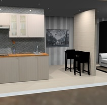 Piso 40m2. Un proyecto de Diseño, Diseño de muebles y Diseño de interiores de irenizlo         - 29.11.2016