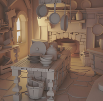 The Hansel and Gretel's kitchen. A 3D, and Animation project by Carlos Saez Martinez         - 03.03.2016