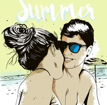 Summer. A Illustration, and Graphic Design project by Ivan Rodriguez Olvera         - 05.12.2016