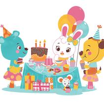 Happy Birthday!. Un proyecto de Diseño, Ilustración y Diseño de personajes de Pamela Barbieri - 18-05-2015
