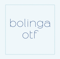 Bolinga Font. A Design, Graphic Design, T, and pograph project by FRANCISCO POYATOS JIMENEZ - 19-12-2016