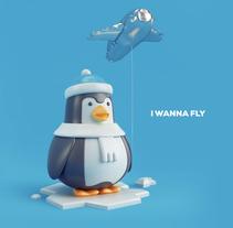 penguin. Un proyecto de Diseño, Ilustración y 3D de Juan Afanador         - 20.12.2016