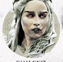 Mi Proyecto del curso: Retrato ilustrado con Photoshop - Khaleesi. Un proyecto de Ilustración y Diseño gráfico de Ari B. Miró         - 26.12.2016