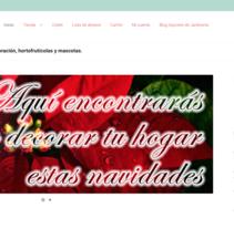 www.flordeneuonline.com, tienda de decoración, jardinería y mucho más!. Um projeto de Web design e Desenvolvimento Web de meritxell laso miret         - 02.01.2017