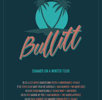 Bullitt - Summer On a Winter Tour. A Illustration, and Graphic Design project by Xavier Calvet Sabala         - 14.12.2016