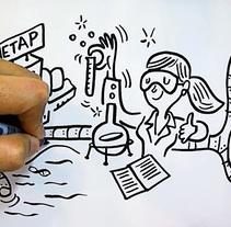 Doodle dibujado del ciclo del  agua. Un proyecto de Ilustración y Animación de Juanma García Escobar - 12-01-2017