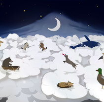 EL CIELO DE LOS ANIMALES. A Illustration project by Luis Carvalhosa         - 20.01.2017