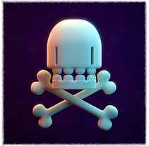 Jolly Roger. A Illustration, 3D, and Character Design project by Sergio Casado González - 21-01-2017