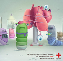 Cruz Roja: Donación de órganos - Gusanos. A Advertising, and Marketing project by Daniel Granatta - 04-05-2012