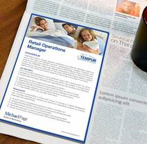 Newspaper advertisement. A Editorial Design, and Graphic Design project by Amaya Ríos         - 28.01.2013