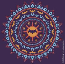 Grafísmo para camiseta. Batdala. A Illustration, Art Direction, Br, ing, Identit, Fashion, Graphic Design, Collage, and Comic project by Cecilia Santiago         - 19.12.2016