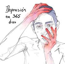 La Depresión en 365 Ilustraciones. A Illustration, and Graphic Design project by Darko Madafacker         - 19.01.2018