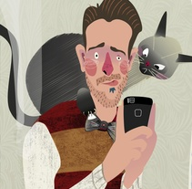 A los gatos no les gustan las pajaritas de gatos. A Illustration project by Gil Gijón - 09-01-2017