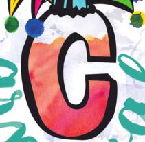 Cartel carnaval. Un proyecto de Ilustración, Diseño gráfico y Caligrafía de Beatriz Arévalo Hernández         - 08.02.2017