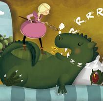 La llegenda del drac que dormia i roncava. Um projeto de Ilustração de Viuleta crespo         - 07.02.2017