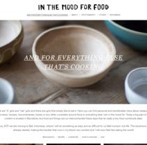 Plantilla original para el blog In the mood for food. Um projeto de Desenvolvimento Web de rseoaneb         - 30.01.2017