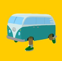 VW Camper. A Illustration, and Animation project by Sergio Rodríguez - 14-02-2017