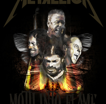 Metallica. Moth into flame.. A Illustration project by Alfonso J. Callejas         - 18.02.2017