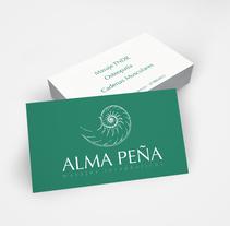 ALMA PEÑA masajes terapeuticos. A Design project by Rocío Peña del Río         - 01.06.2014