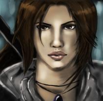 Lara Croft (Digital Painting). Um projeto de Ilustração de JESSICA BERRAQUERO LARA         - 05.03.2017