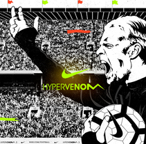 Nike // Hypervenom 3. A Illustration, Animation, and Art Direction project by CranioDsgn  - 21-03-2017