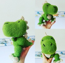Dinosaurio T Rex - Amigurumi. A Crafts project by americalira         - 22.03.2017