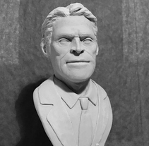 Busto miniatura 1/6 de Willem Dafoe. A Character Design, Sculpture, To, and Design project by Manuel Barroso Parejo - 30-03-2017