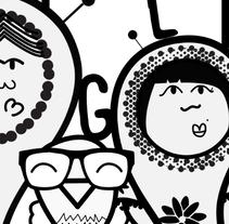 """""""Famiglia"""" - Ilustración vectorial. . A Character Design project by Laura  Cámara - 30-03-2017"""