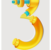 Bionic Numbers. No 3. A Design, Illustration, 3D, Art Direction, Graphic Design, Writing, and Lettering project by Maikel Martínez Pupo         - 15.04.2017