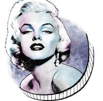 Mi Proyecto del curso: Retrato ilustrado con Photoshop - Marilyn. Un proyecto de Ilustración y Diseño gráfico de Eliana CT - 18-04-2017