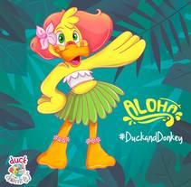 Duck and Donkey Vol 2. Un proyecto de Ilustración, Diseño de personajes y Educación de Venisa Del Aguila - 25-04-2017