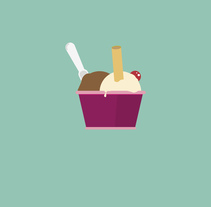 Sweet ice cream poster. Un proyecto de Diseño gráfico de sergi nadal  - 30-04-2017