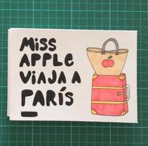 Cuento para niños ilustrado (encuadernado acordeón con tapas forradas). A Graphic Design, and Paper craft project by Valerie Manzano         - 04.05.2017